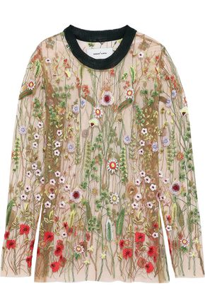 MARQUES' ALMEIDA Embroidered tulle top