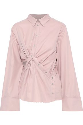 MARQUES' ALMEIDA Twist-front cutout cotton-twill shirt