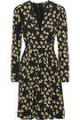 DEREK LAM Wrap-effect floral-print silk crepe de chine dress