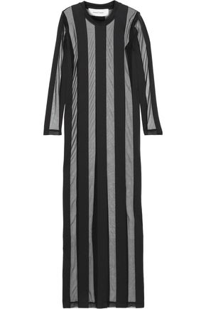 MARQUES' ALMEIDA Striped cotton-blend tulle and jersey maxi dress