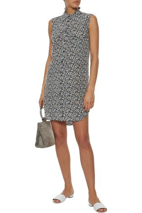 EQUIPMENT Slim Signature printed washed-silk mini shirt dress