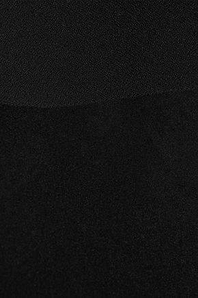 DEREK LAM Ruffled crepe-paneled silk-satin dress