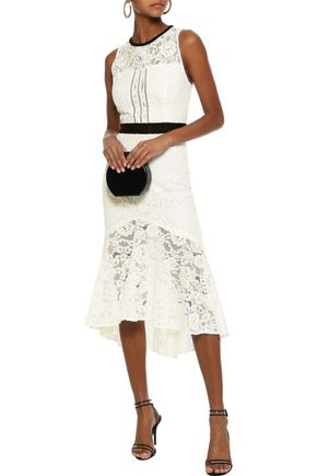 MARISSA WEBB Sophia open-back fluted corded lace midi dress