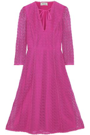 TEMPERLEY LONDON Sunrise bow-detailed guipure lace dress