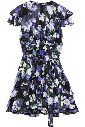 MARISSA WEBB Sully ruffled floral-print silk-georgette mini dress