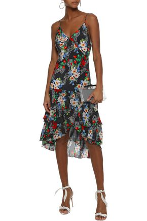 MARISSA WEBB Illana ruffled printed silk-chiffon dress