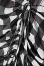 MARISSA WEBB Kailee wrap-effect gingham silk crepe de chine mini dress