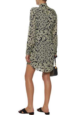 EQUIPMENT Freda floral-print washed-silk mini shirt dress