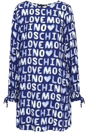 LOVE MOSCHINO Printed twill mini dress