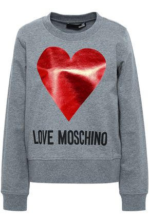 LOVE MOSCHINO Printed stretch-cotton sweatshirt