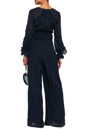 ZIMMERMANN Ruffled silk-jacquard jumpsuit