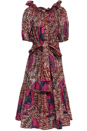 STELLA McCARTNEY Printed cotton midi dress