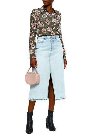 LOVE MOSCHINO Floral-print poplin shirt