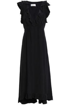 ZIMMERMANN Ruffled silk midi dress