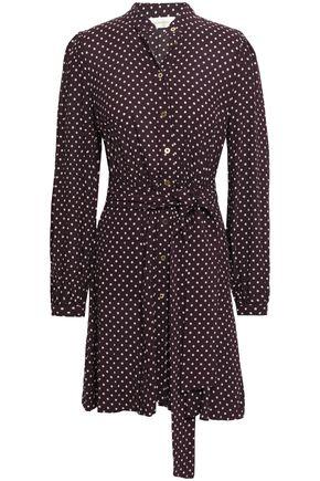 ZIMMERMANN Polka-dot crepe mini shirt dress