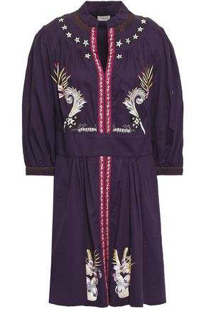 TEMPERLEY LONDON Embroidered cotton mini dress