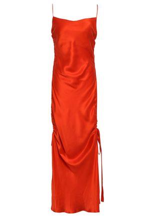 ZIMMERMANN Ruched washed-silk midi dress