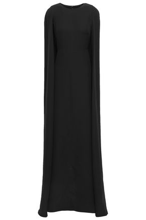 VALENTINO Cape-effect silk-crepe gown