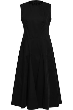 DEREK LAM Flared cotton-blend midi dress