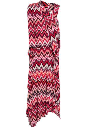 RAOUL Printed stretch-jersey midi dress