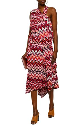 RAOUL Printed stretch-jersey midi dress