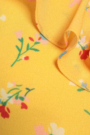 RAOUL Ruffle-trimmed floral-print crepe de chine midi dress