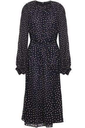 DEREK LAM Polka-dot silk-georgette midi dress