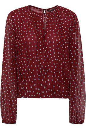 DEREK LAM Polka-dot silk-georgette blouse