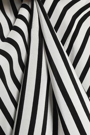 DEREK LAM Striped silk-crepe tunic