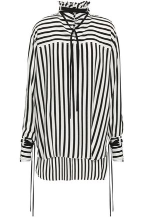 DEREK LAM Striped silk-crepe tunic