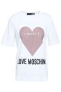 LOVE MOSCHINO Crystal-embellished printed cotton-jersey T-shirt