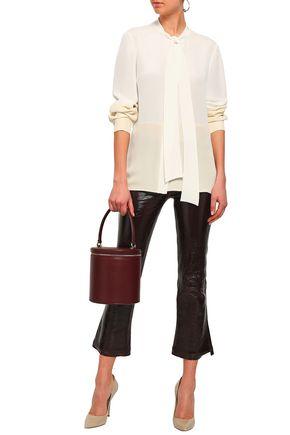 DEREK LAM Two-tone silk-crepe blouse