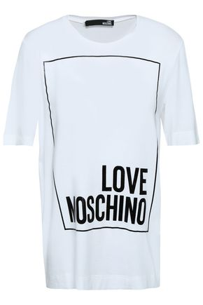 LOVE MOSCHINO Metallic printed stretch-modal T-shirt