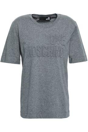 LOVE MOSCHINO Embossed cotton-jersey T-shirt