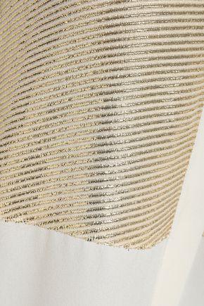 DEREK LAM Metallic fil coupé silk-blend blouse