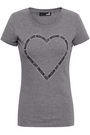 LOVE MOSCHINO Crystal-embellished stretch-cotton jersey T-shirt