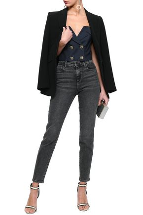 MARISSA WEBB Julius cropped double-breasted twill top