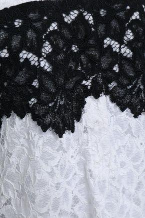 MARISSA WEBB Piqué-paneled corded lace shirt
