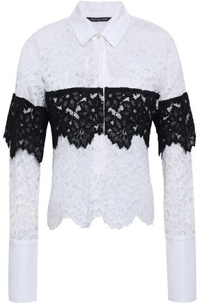 MARISSA WEBB Piqué-paneled corded lace shirt