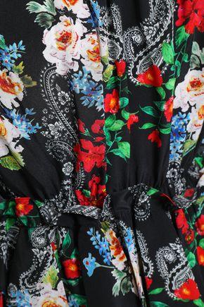 MARISSA WEBB Ruffled floral-print silk-crepe blouse