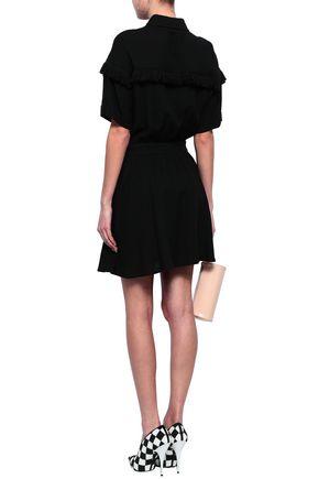 LOVE MOSCHINO Frayed twill mini shirt dress
