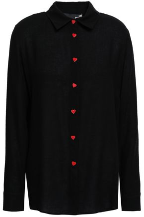 LOVE MOSCHINO Button-detailed twill shirt