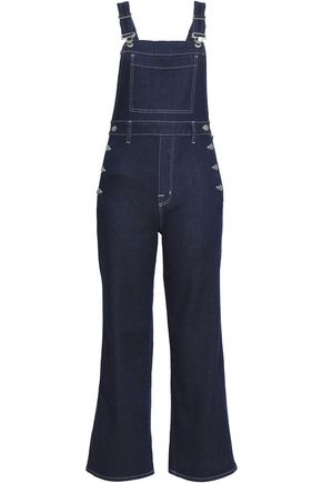 J BRAND Cropped denim overalls
