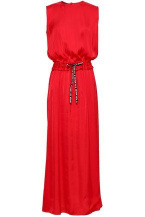 LOVE MOSCHINO Gathered cady maxi dress