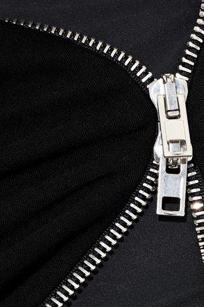 ALEXANDER WANG Zip-detailed wool-jersey mini dress
