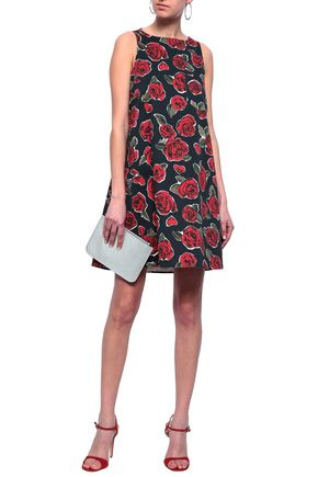 LOVE MOSCHINO Floral-print stretch-cotton mini dress