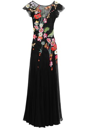 TEMPERLEY LONDON Embroidered tulle, lace and silk-blend organza gown