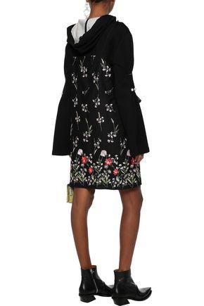 MARQUES' ALMEIDA Cutout ruffle-trimmed embroidered cotton-blend mini dress