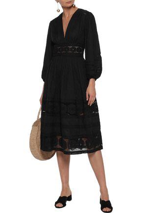 ZIMMERMANN Embroidered cotton midi dress