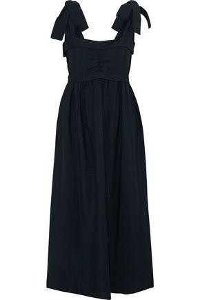 f2bbc190f0d2 SEE BY CHLOÉ Bow-detailed ruched cotton midi dress